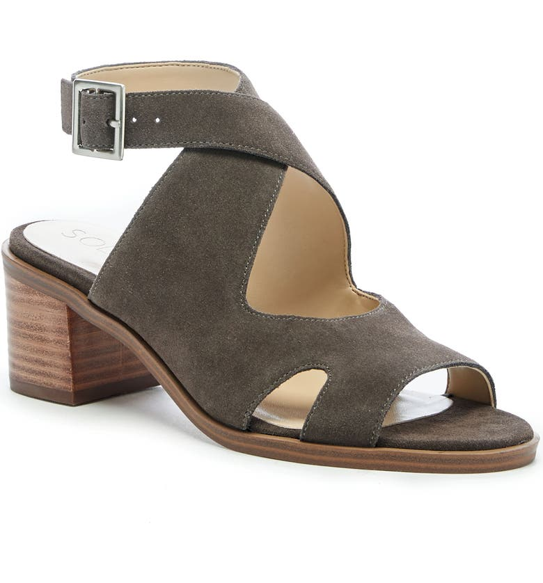 SOLE SOCIETY Tresey Sandal, Main, color, STONE SUEDE
