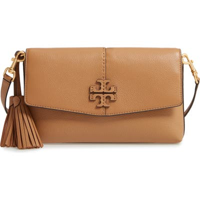 Tory Burch Mcgraw Leather Crossbody Bag - Brown