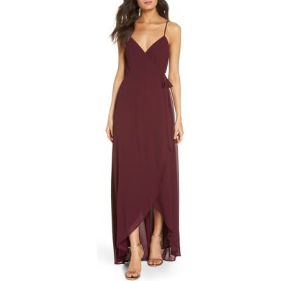 Show Me Your Mumu Mariah Wrap Maxi Dress, Burgundy