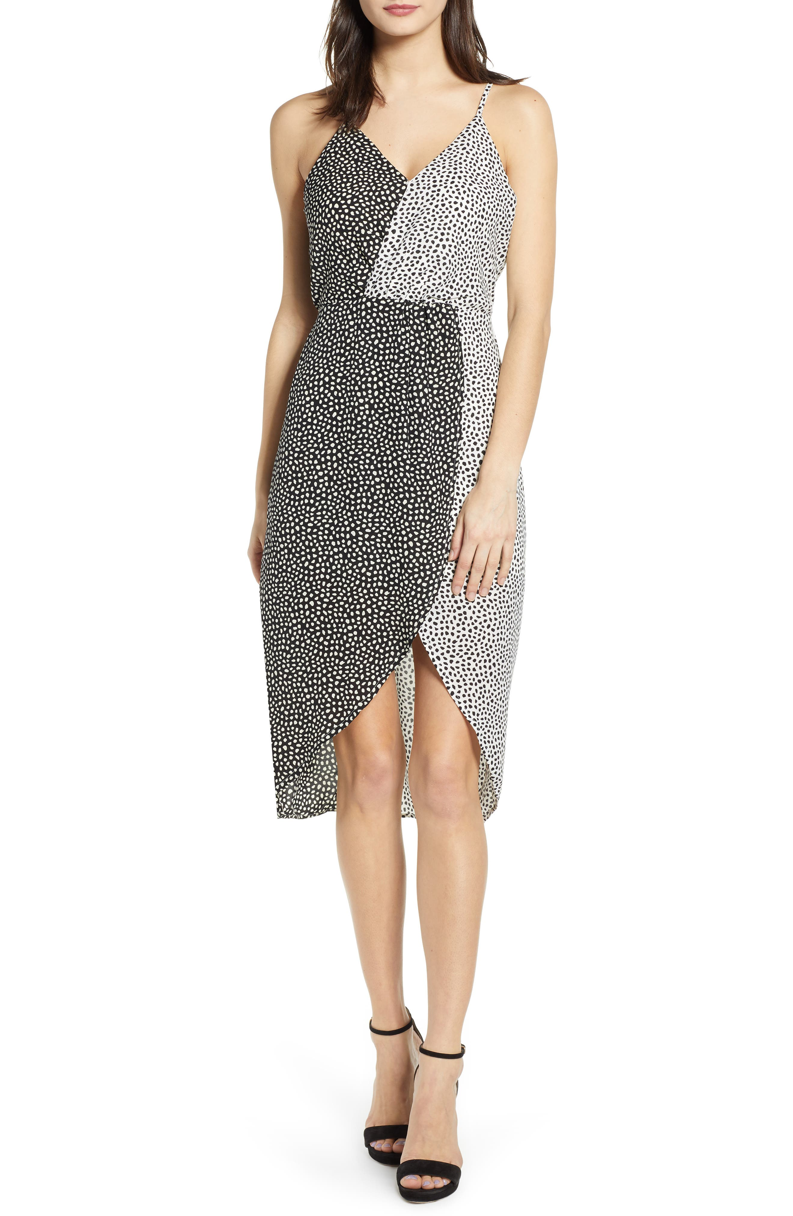 J.o.a. Contrast Print Dress, Black