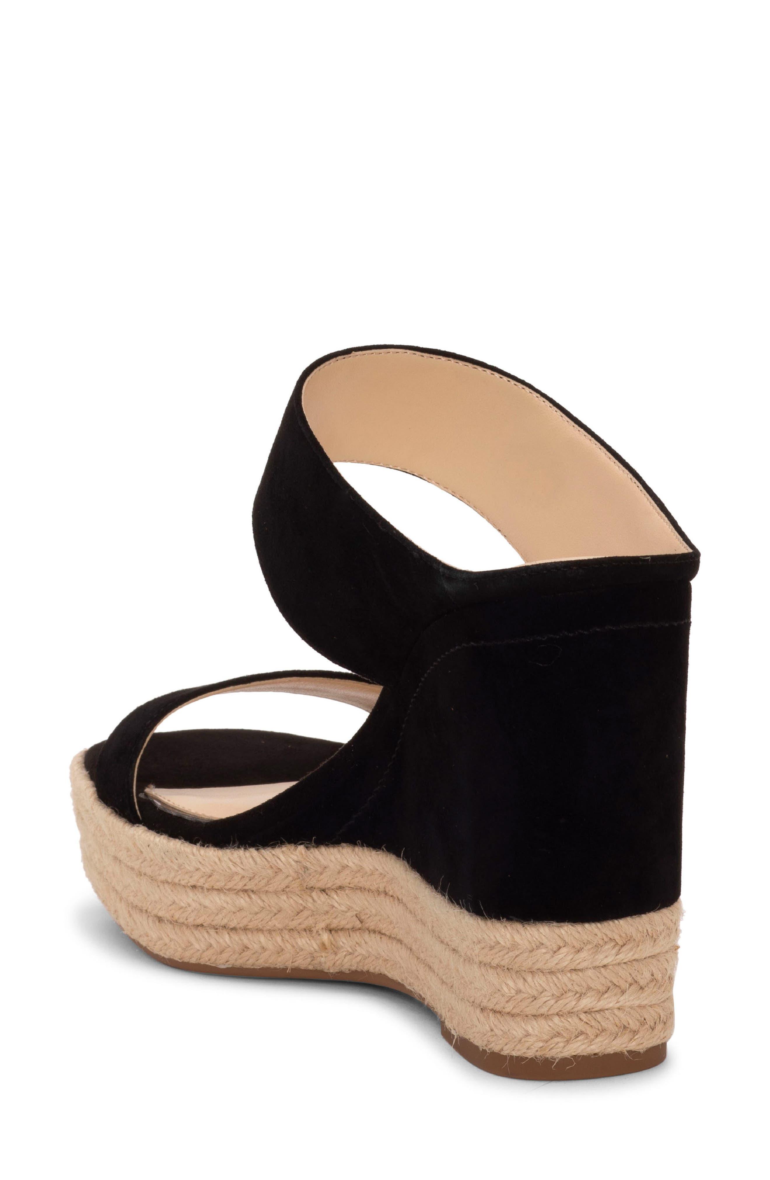 ,                             Siera Espadrille Wedge Slide Sandal,                             Alternate thumbnail 2, color,                             BLACK
