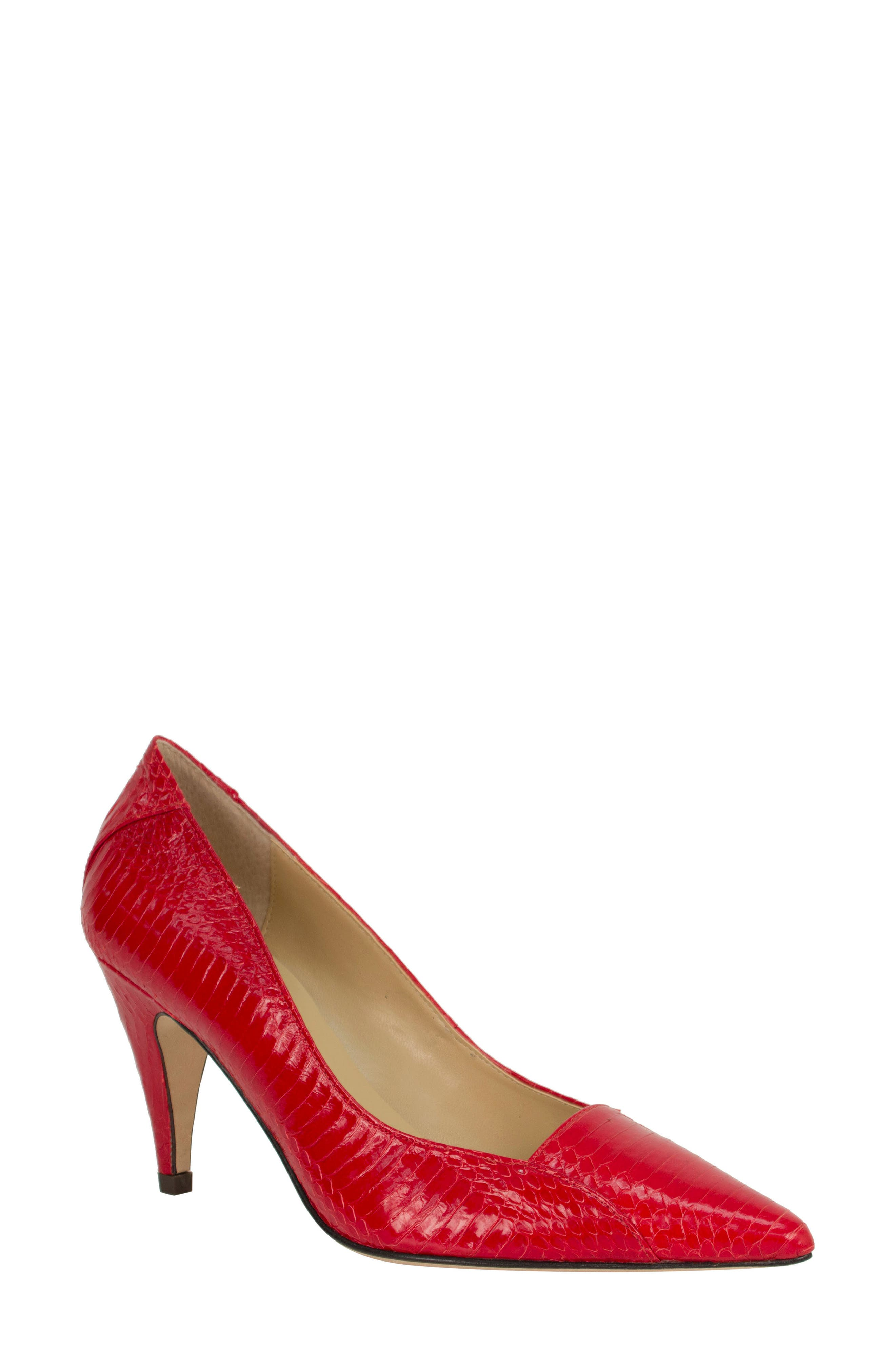 J. Renee Cobra Pointy Toe Pump B - Red