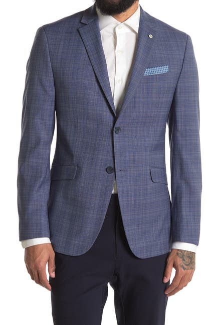 Image of Original Penguin Plaid Two Button Notch Lapel Blazer