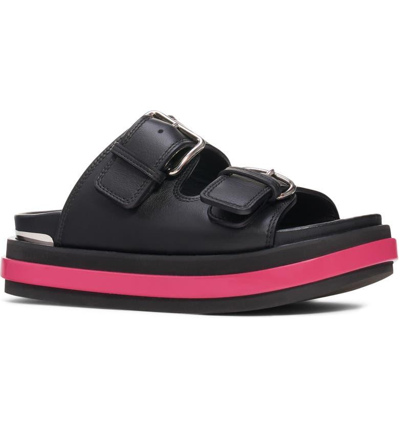 ALEXANDER MCQUEEN Platform Slide Sandal, Main, color, BLACK/ ORCHID