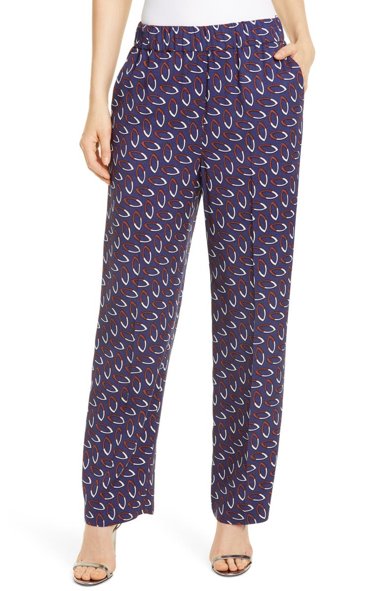 SEVENTY Geometric Print Pants, Main, color, 400
