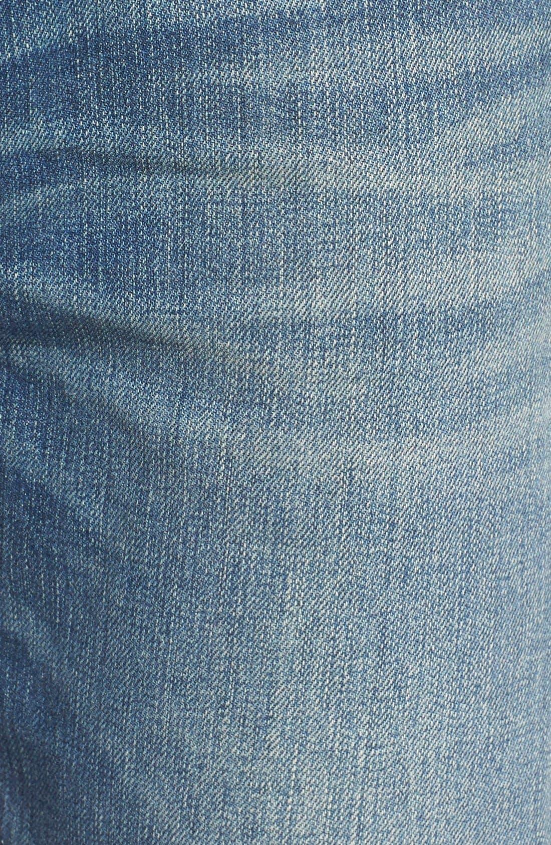 ,                             'Jim' Skinny Fit Selvedge Jeans,                             Alternate thumbnail 5, color,                             421
