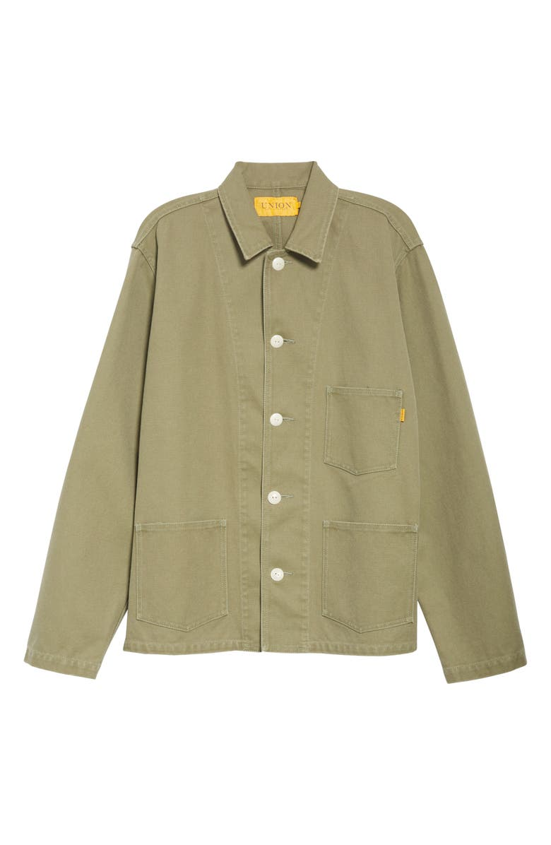 UNION LOS ANGELES Canvas Chore Coat, Main, color, OLIVE
