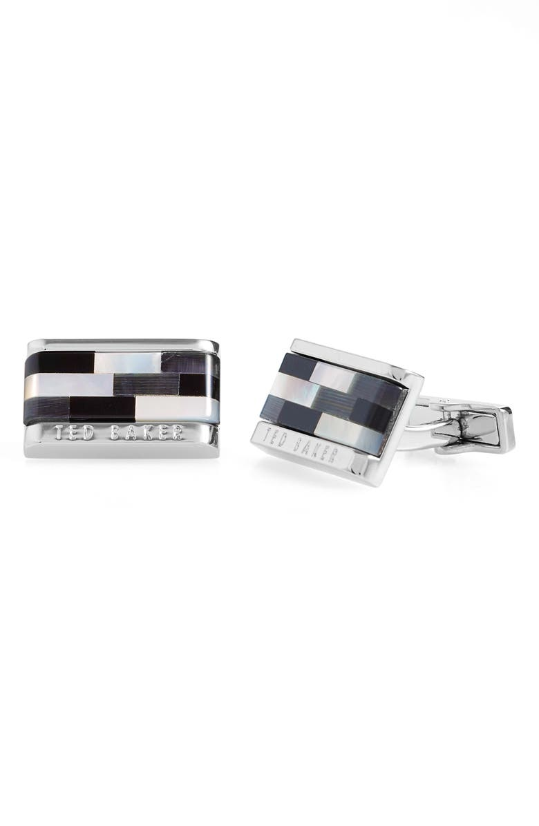 TED BAKER LONDON Cure Stone Cuff Links, Main, color, 001