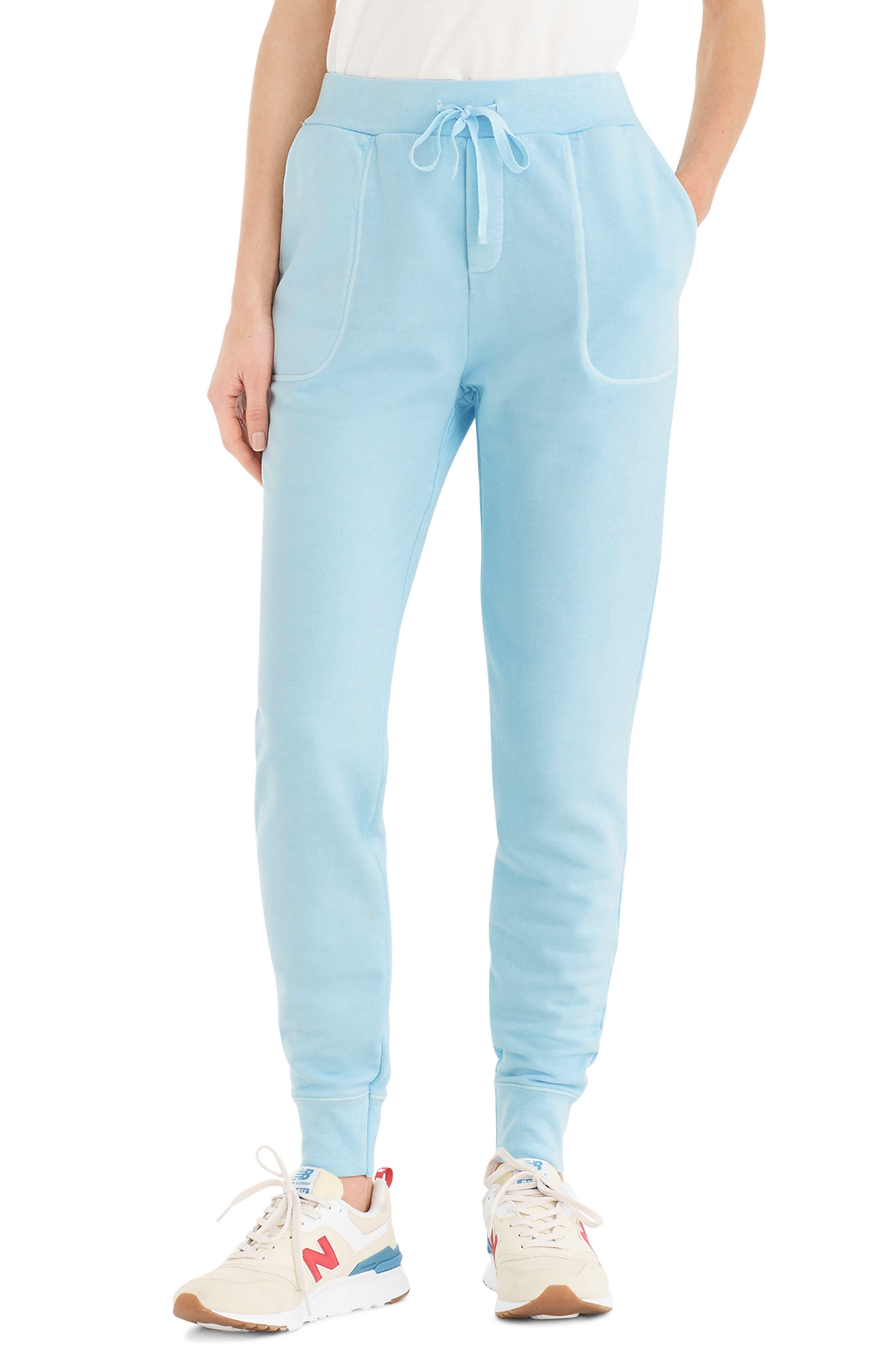 Plus Size J.crew Garment Dyed Cotton Sweatpants, Size - Blue