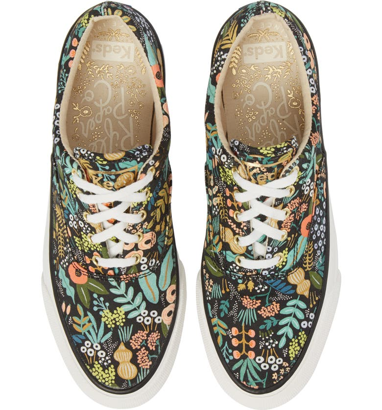 KEDS<SUP>®</SUP> x Rifle Paper Co. Anchor Lively Floral Slip-On Sneaker, Main, color, 001