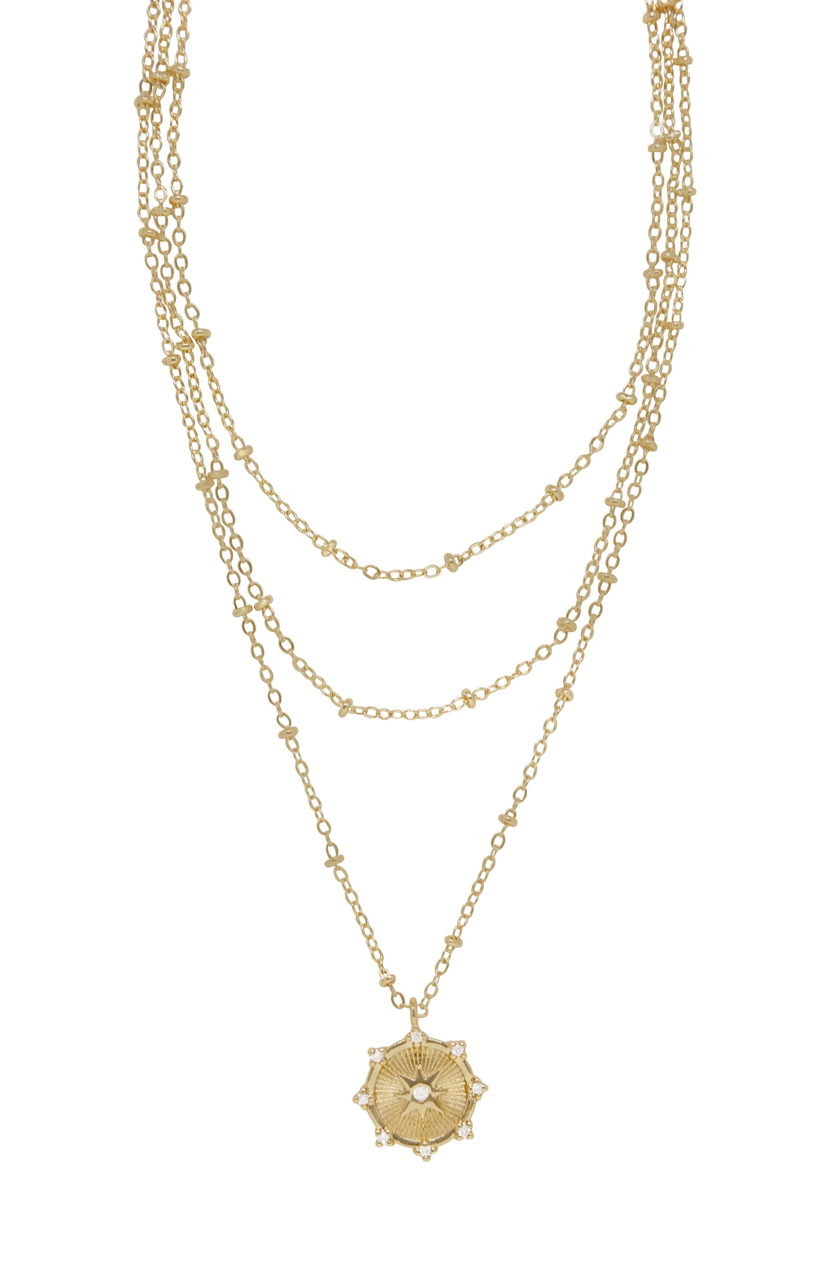 Celestial Triple Layer Necklace