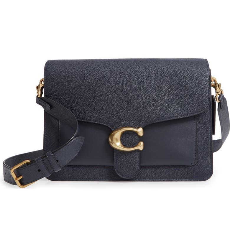 COACH Tabby Leather Crossbody Bag, Main, color, B4/ MIDNIGHT NAVY