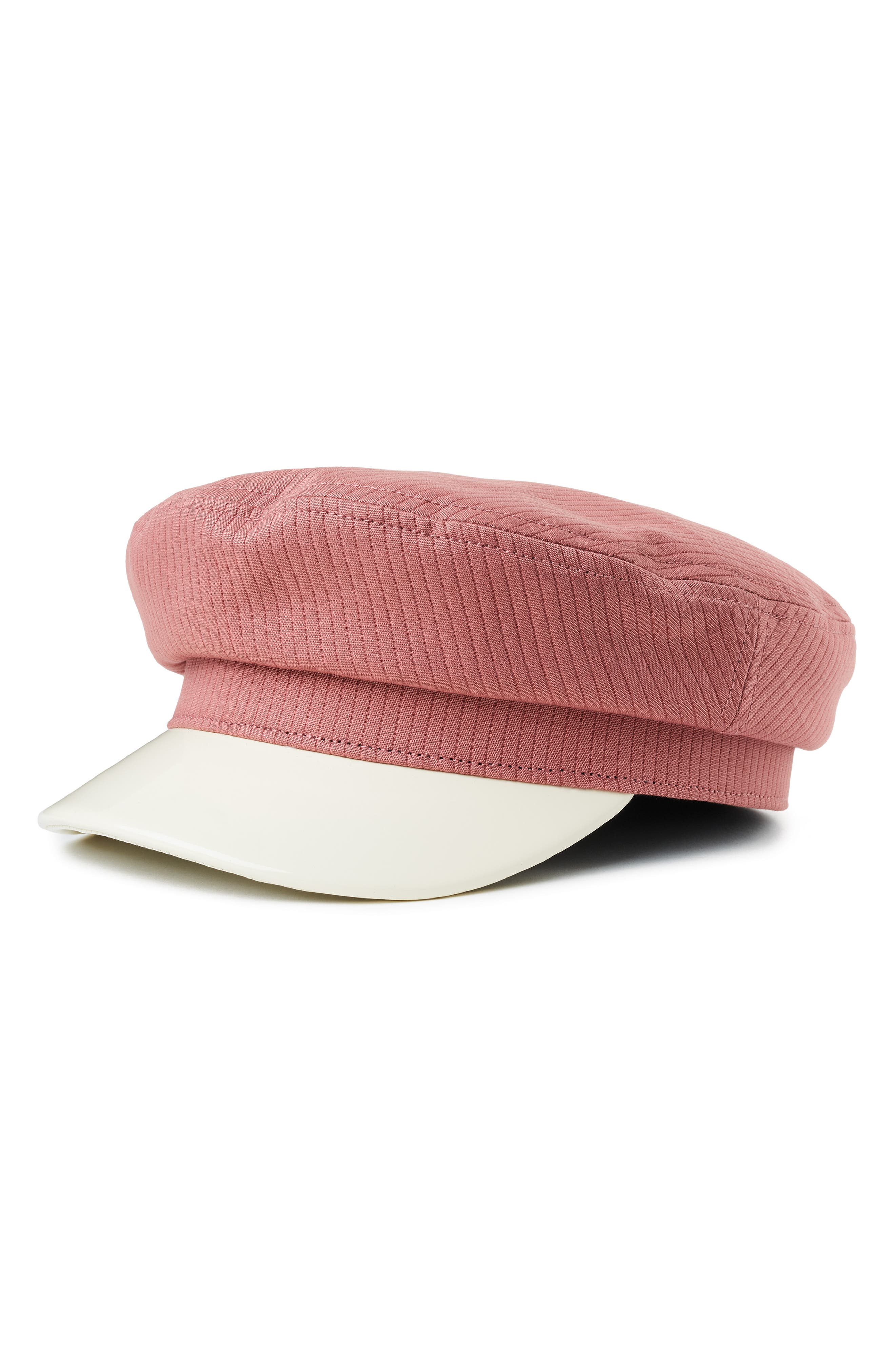 Hippie Hats,  70s Hats Womens Brixton Margot Baker Boy Cap - Pink $27.60 AT vintagedancer.com