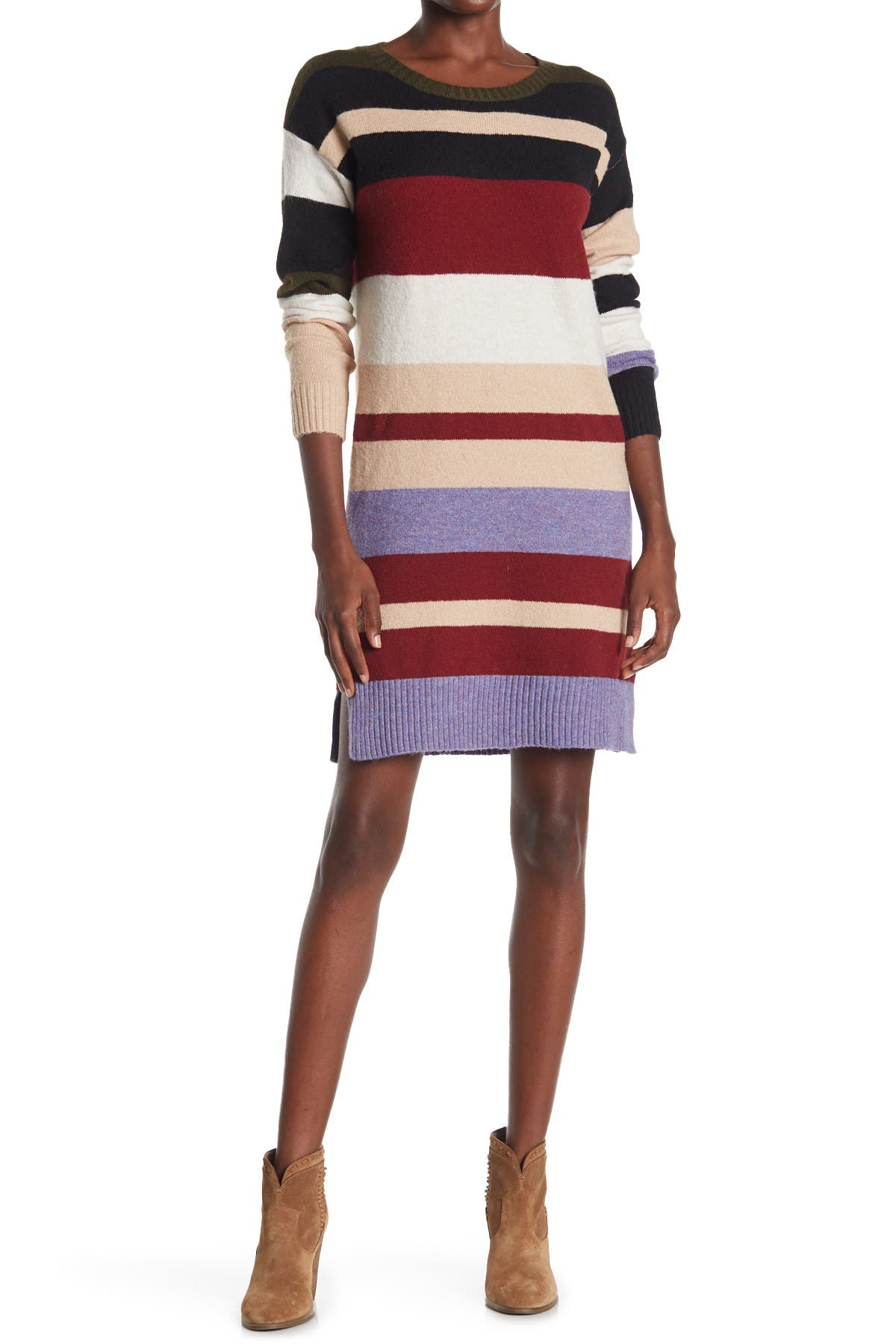 Image of STITCHDROP Harmonious Power Striped Dress