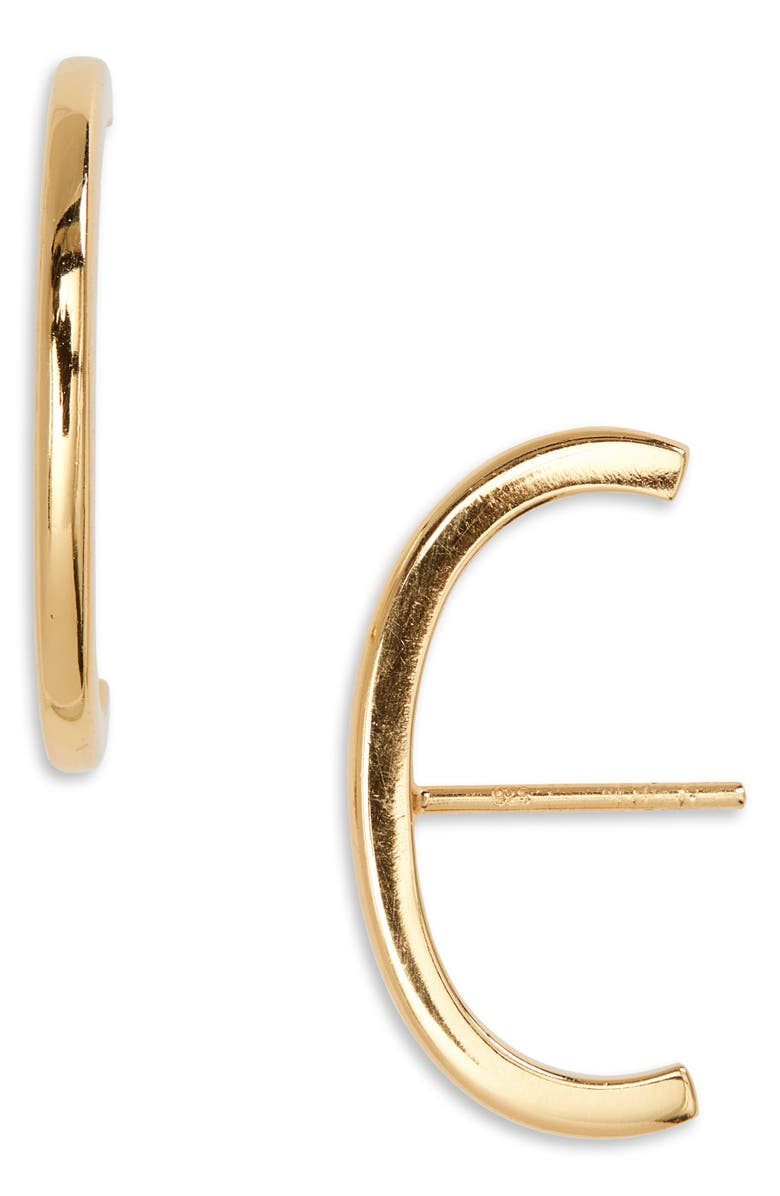 ARGENTO VIVO STERLING SILVER Argento Vivo Suspender Stud Earrings, Main, color, GOLD