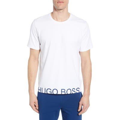 Boss Identity Stretch Cotton Crewneck T-Shirt, White