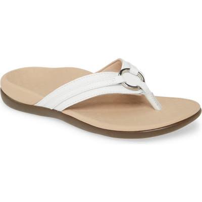 Vionic Aloe Flip Flop, White
