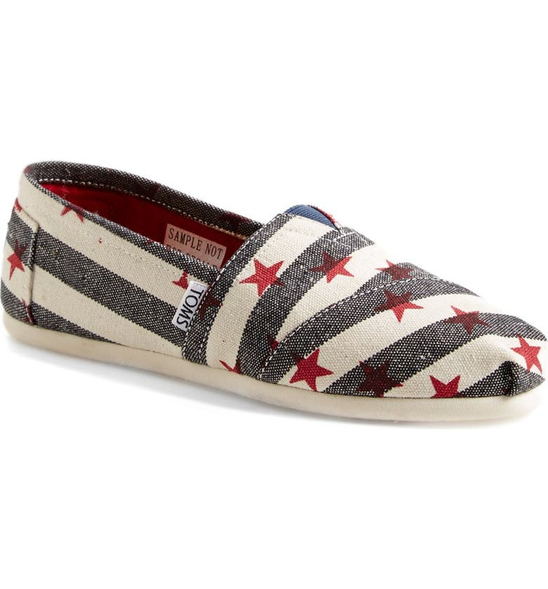 TOMS 'Classic - Natural Star' Slip-On, Main, color, 450