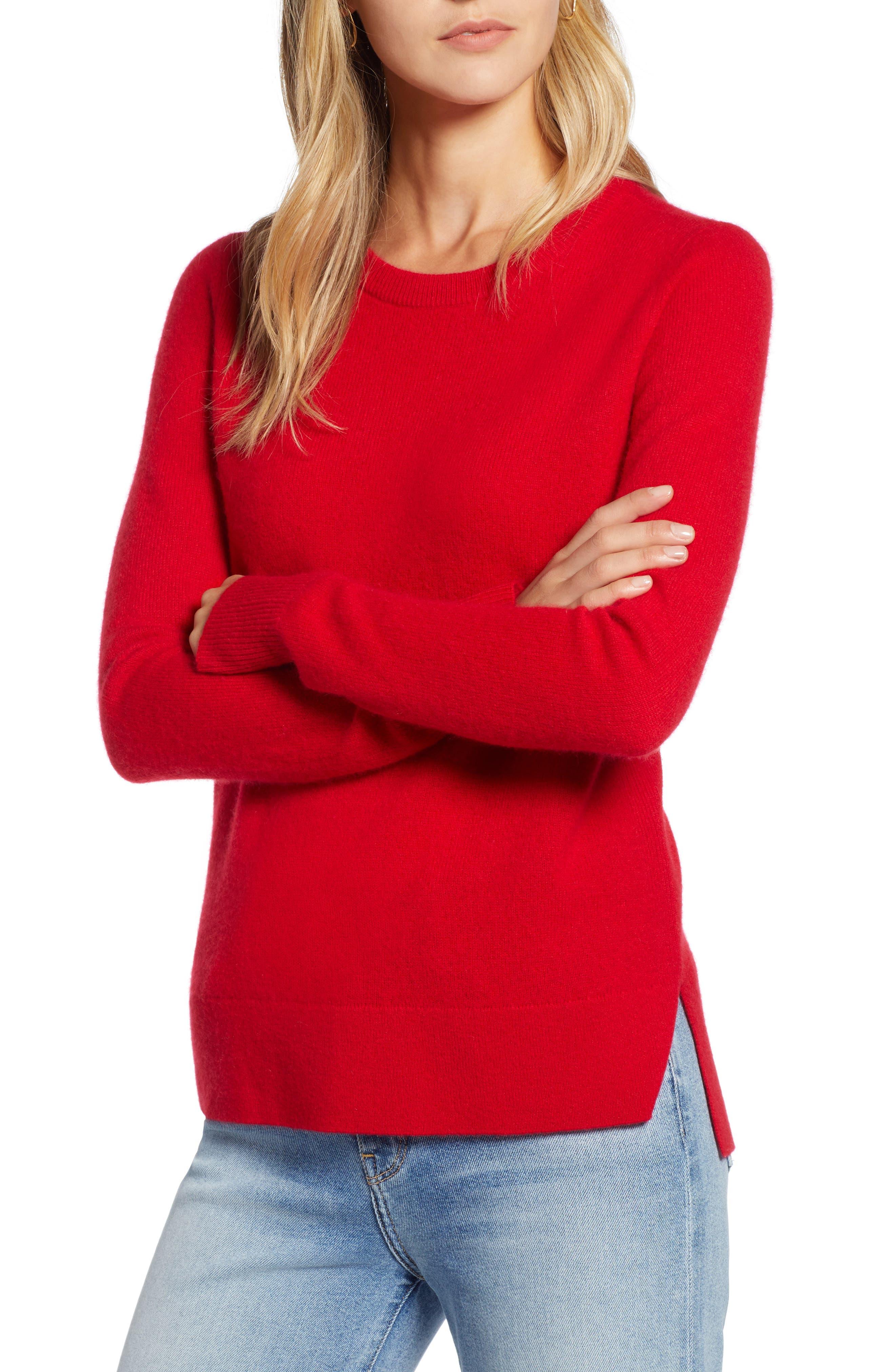 ,                             Crewneck Cashmere Sweater,                             Main thumbnail 144, color,                             610