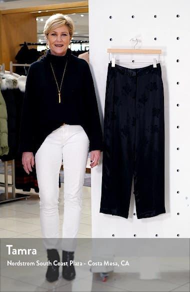 Floral Jacquard Wide Leg Pants, sales video thumbnail