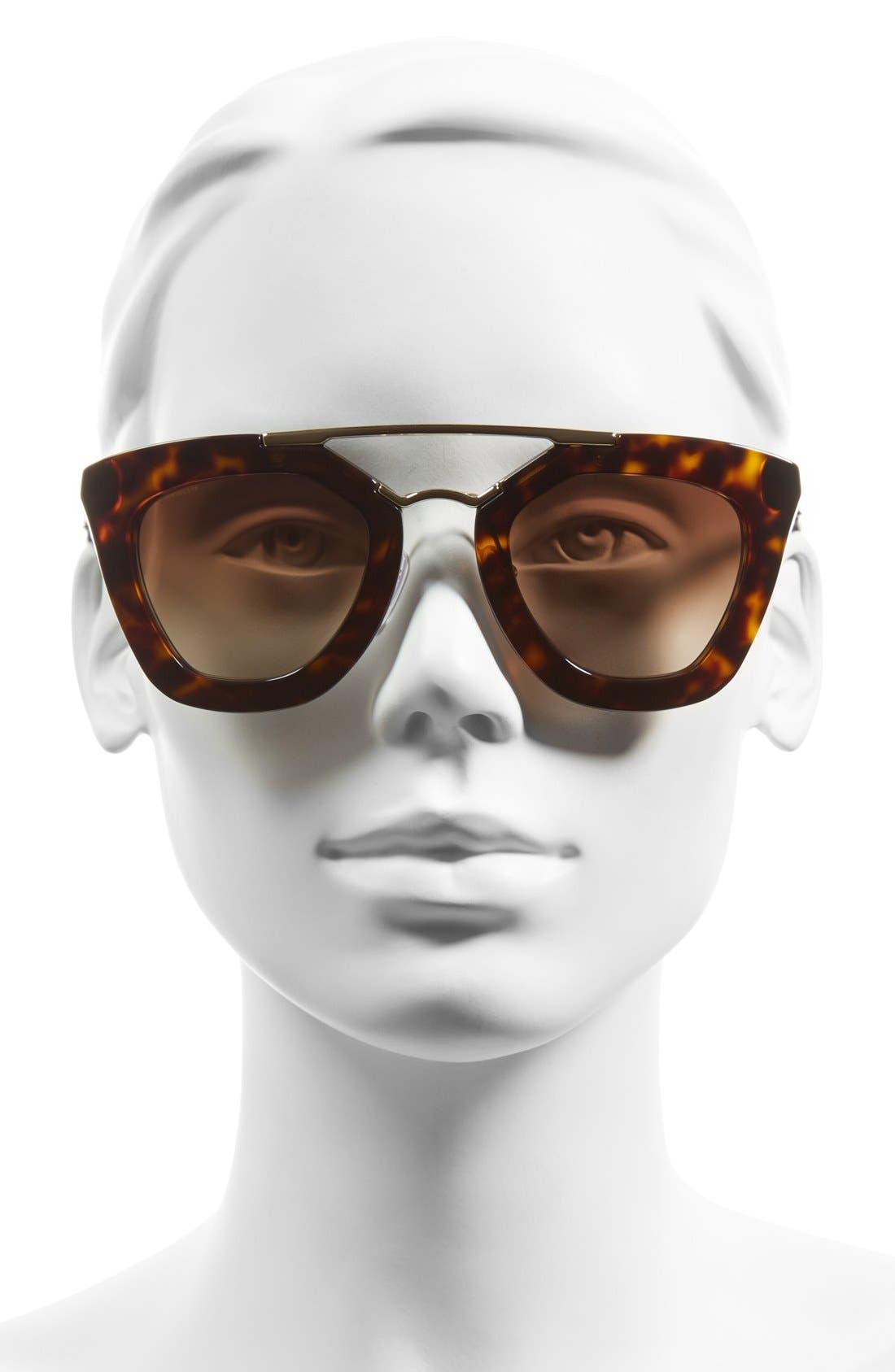 ,                             49mm Retro Sunglasses,                             Alternate thumbnail 3, color,                             200