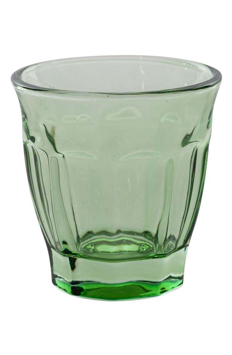 CARAVAN Set of 6 Café Glasses, Main, color, GREEN