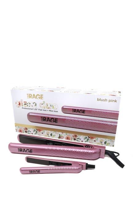 Image of Cortex USA Glam Duo Flat Iron Set - Full Size + Mini - Blush Pink