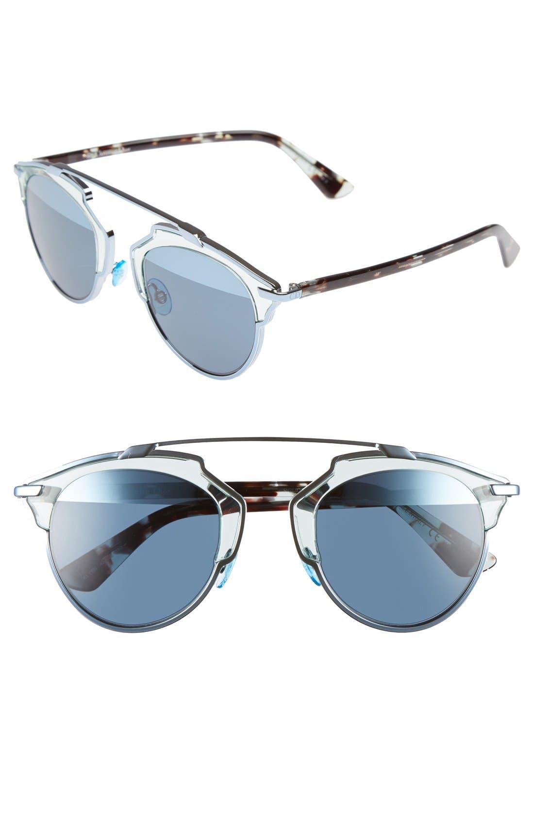 ,                             So Real 48mm Brow Bar Sunglasses,                             Main thumbnail 45, color,                             400