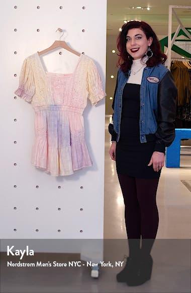 Tomasina Embroidered Cotton Minidress, sales video thumbnail