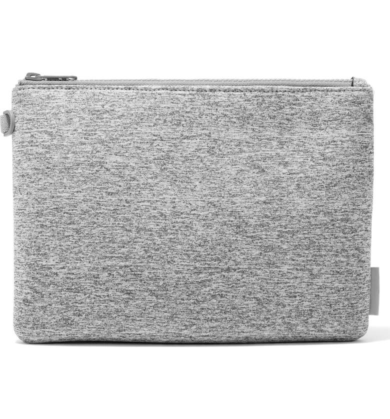 DAGNE DOVER Scout Large Zip Top Pouch, Main, color, HEATHER GREY
