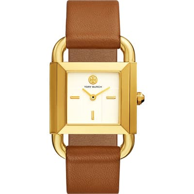 Tory Burch Phipps Leather Strap Watch, 2m X 41Mm