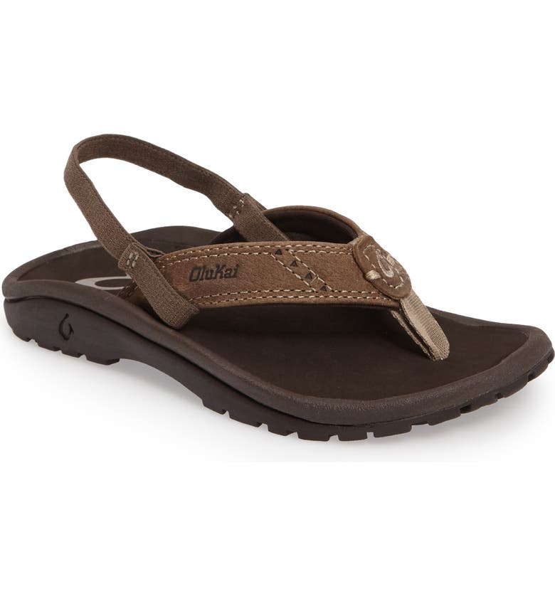 OluKai Nui Leather Sandal Toddler