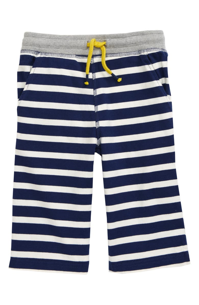 MINI BODEN Stripe Baggies Drawstring Shorts, Main, color, 414