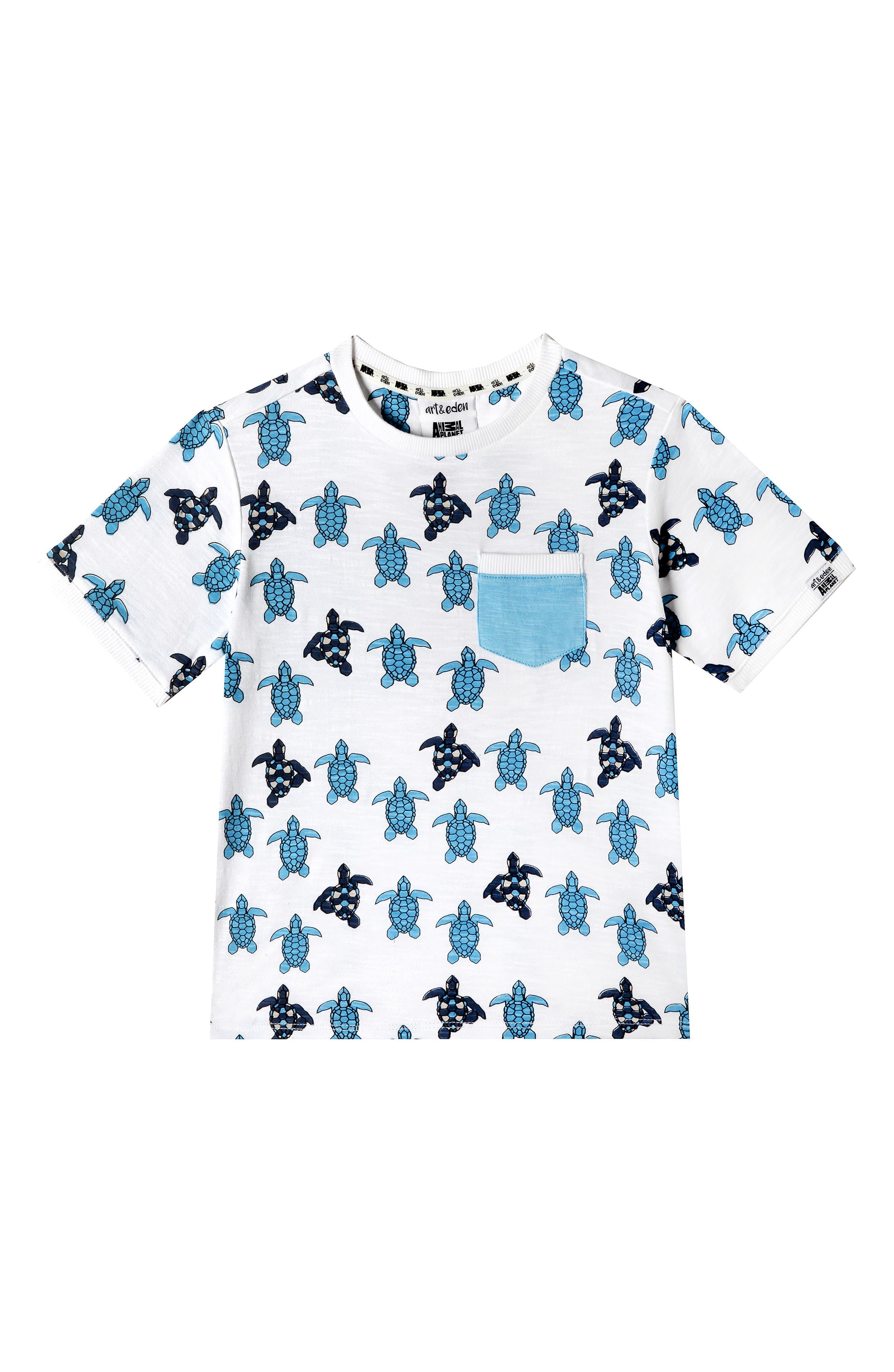 ,                             x Animal Planet Keith Organic Cotton T-Shirt,                             Main thumbnail 1, color,                             TURTLE GEO