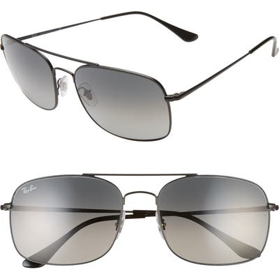 Ray-Ban 60mm Navigator Sunglasses - Matte Black