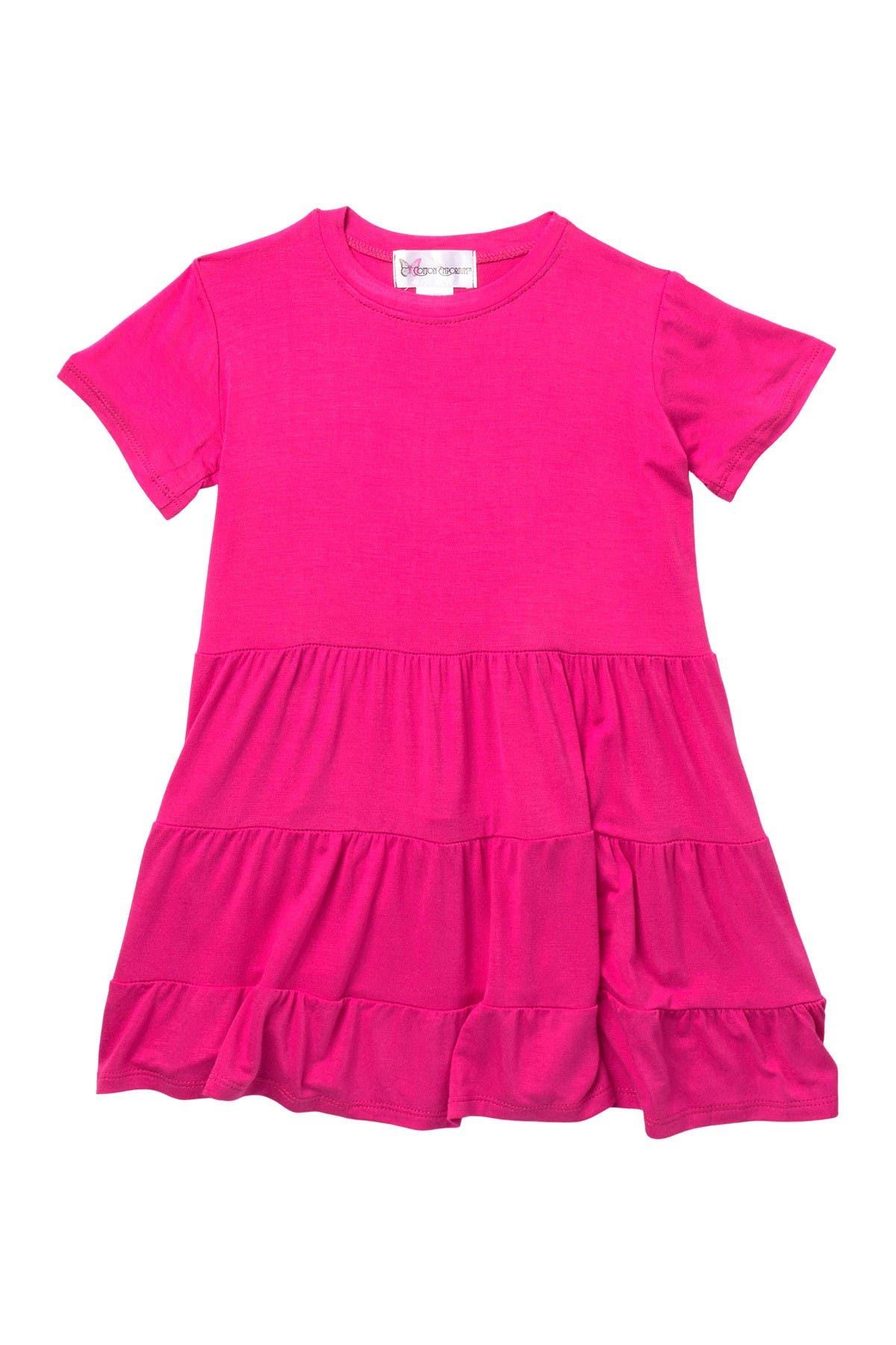 Image of Cotton Emporium Tiered Short Sleeve Dress