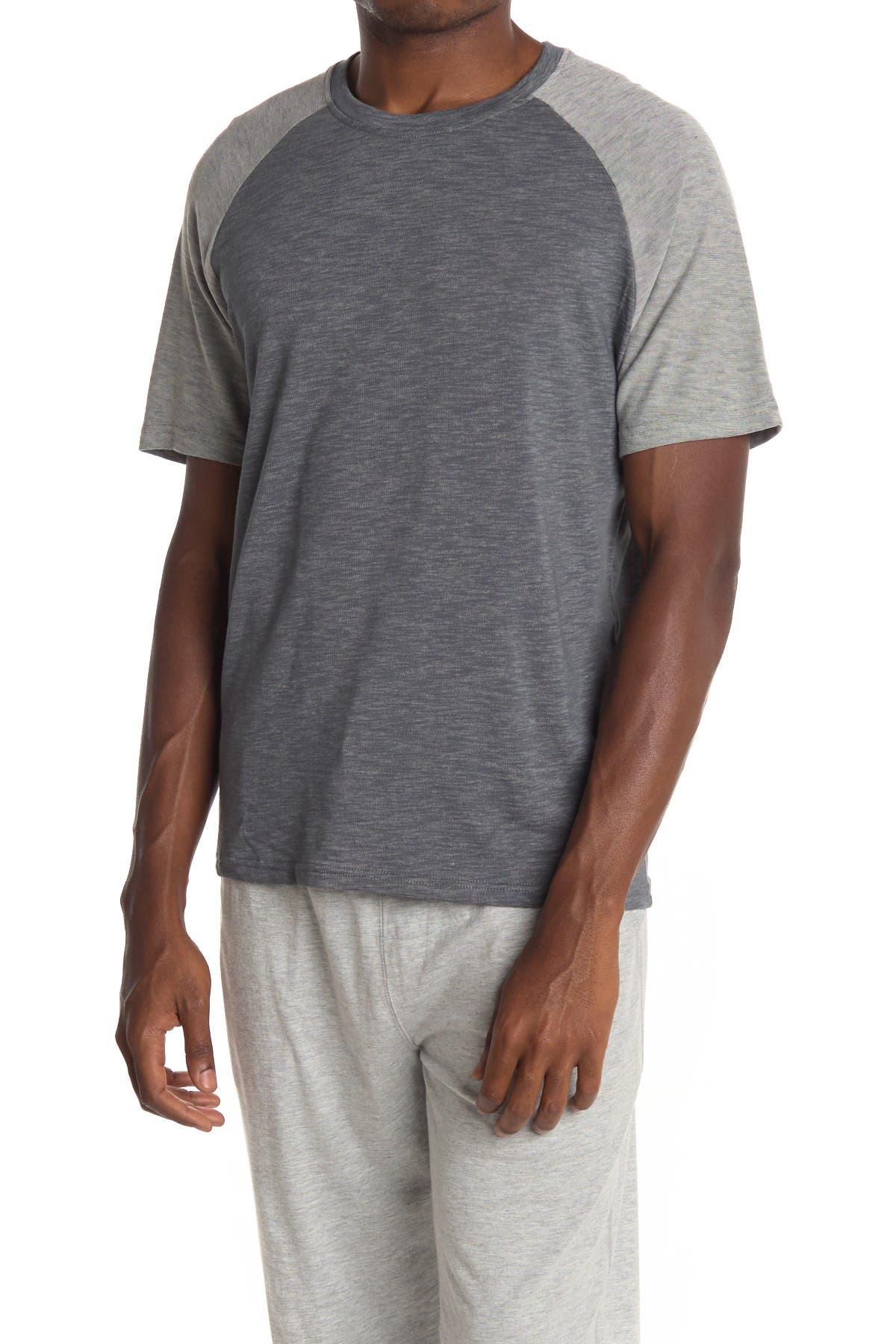 Image of Joe's Jeans Slub Knit Colorblock Raglan T-Shirt