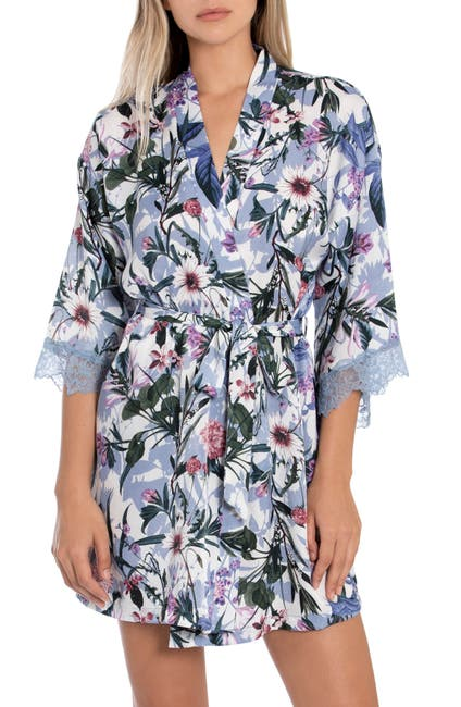 Image of In Bloom by Jonquil Michelle Floral Wrap Robe