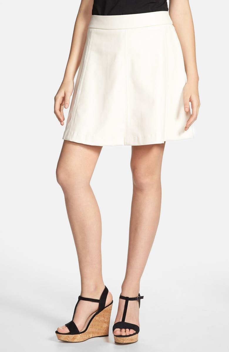 KENSIE Faux Leather Circle Skirt, Main, color, 250