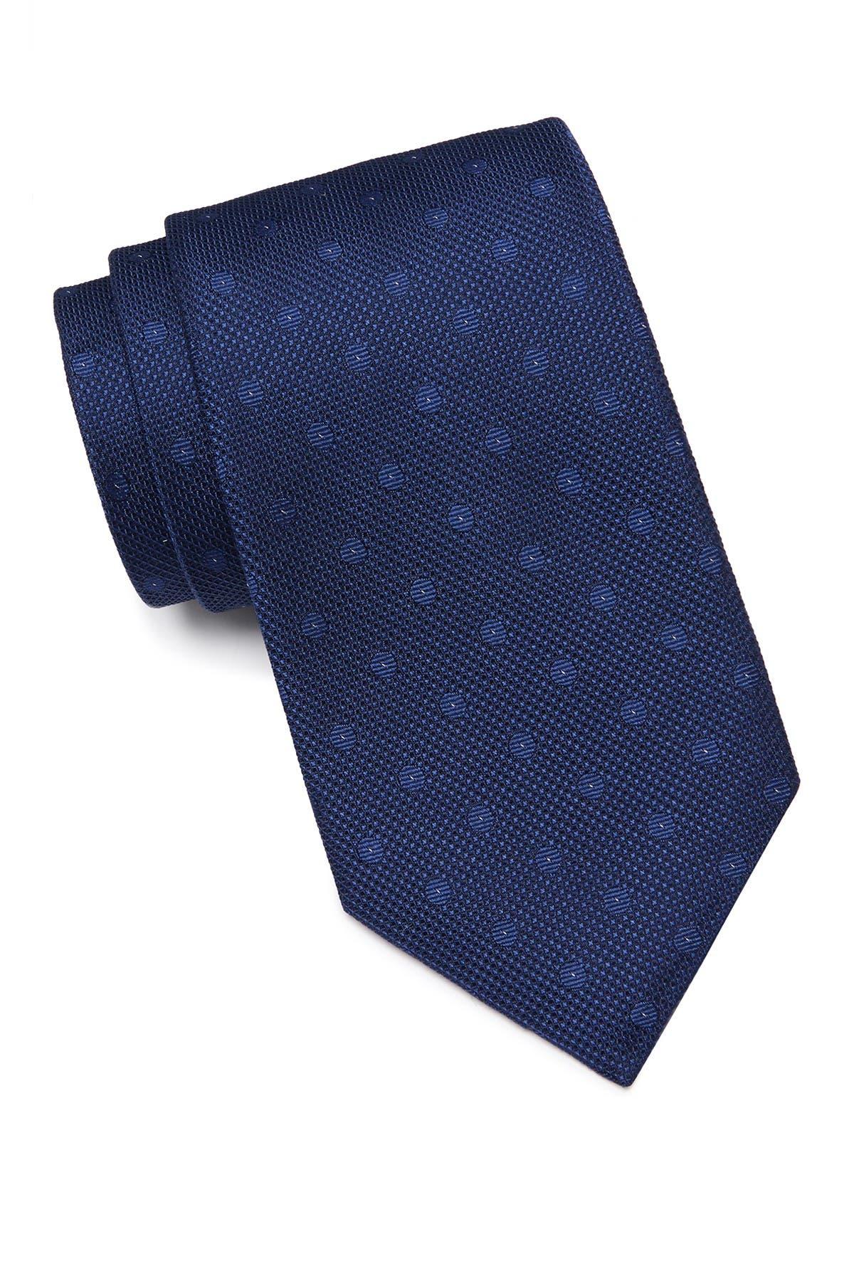 Image of Calvin Klein Small Double Dot Silk Tie