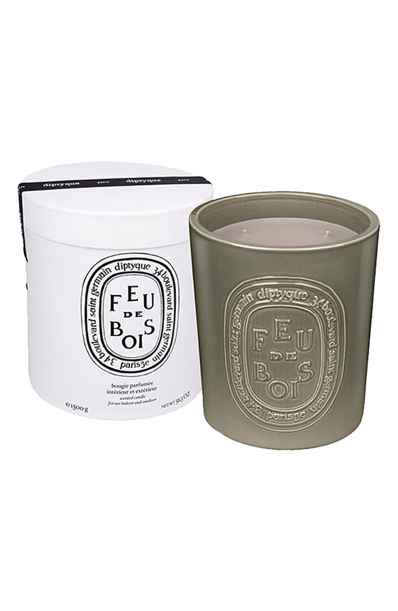 DIPTYQUE Feu de Bois/Wood Fire Large Scented Candle, Main, color, NO COLOR
