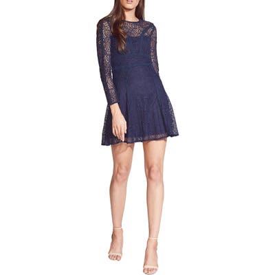 Bardot Tiana Lace Long Sleeve Minidress, Blue