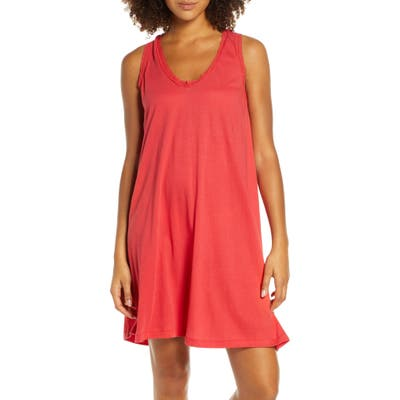 The Great. The Lace Short Sleep Dress, (fits like 8-10 US) - Red
