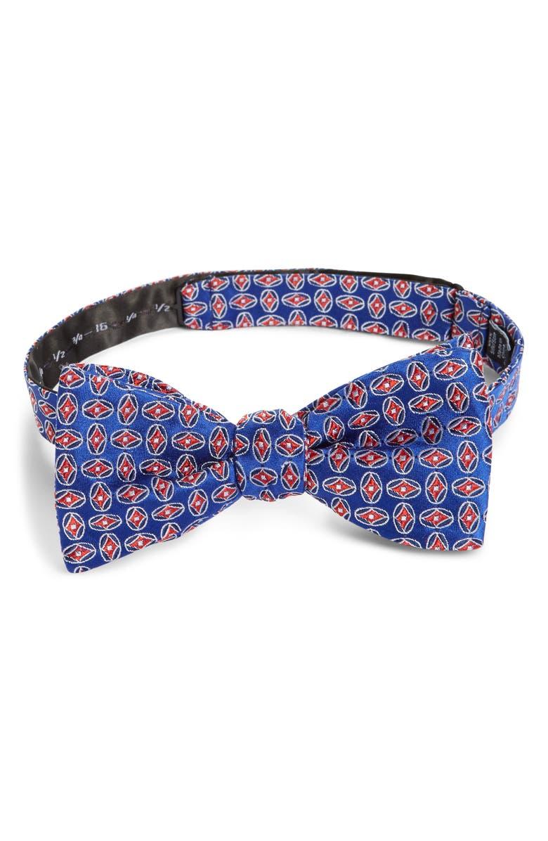 NORDSTROM MEN'S SHOP Mullic Geometric Silk Bow Tie, Main, color, 400