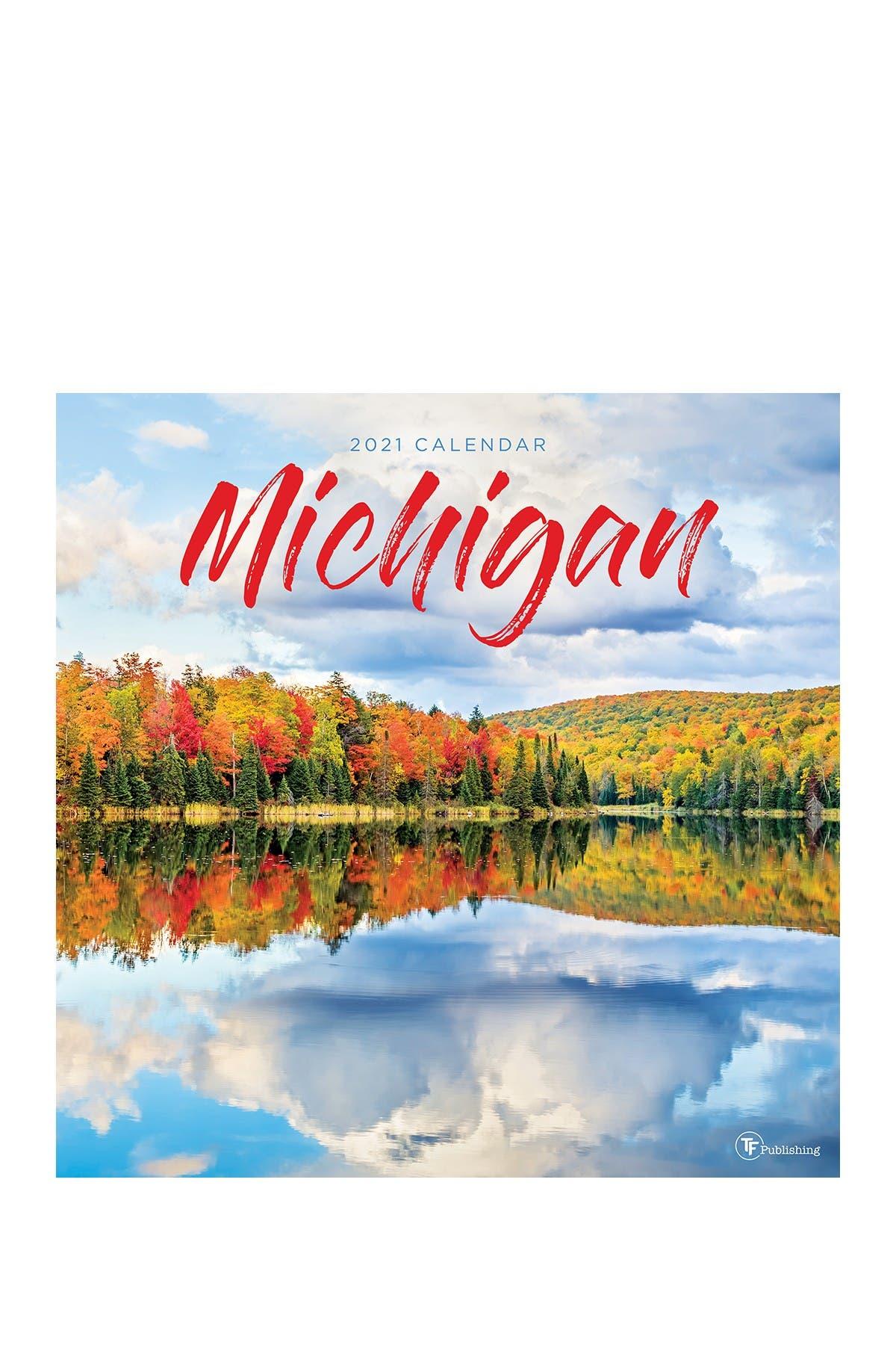 Image of TF Publishing 2021 Michigan Wall Calendar