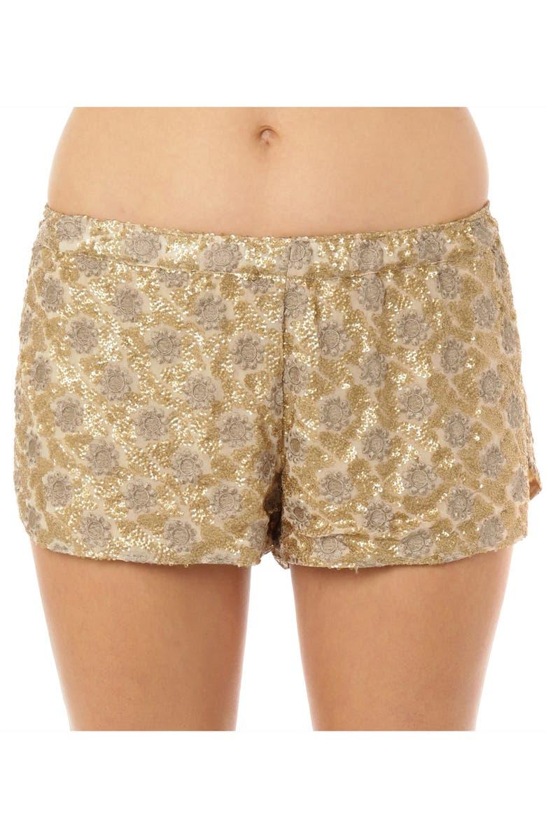 O'NEILL 'Dakota' Embroidered Sequin Shorts, Main, color, 710