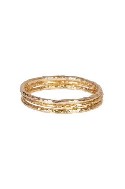 Image of Sterling Forever Triple Band Textured Ring Set