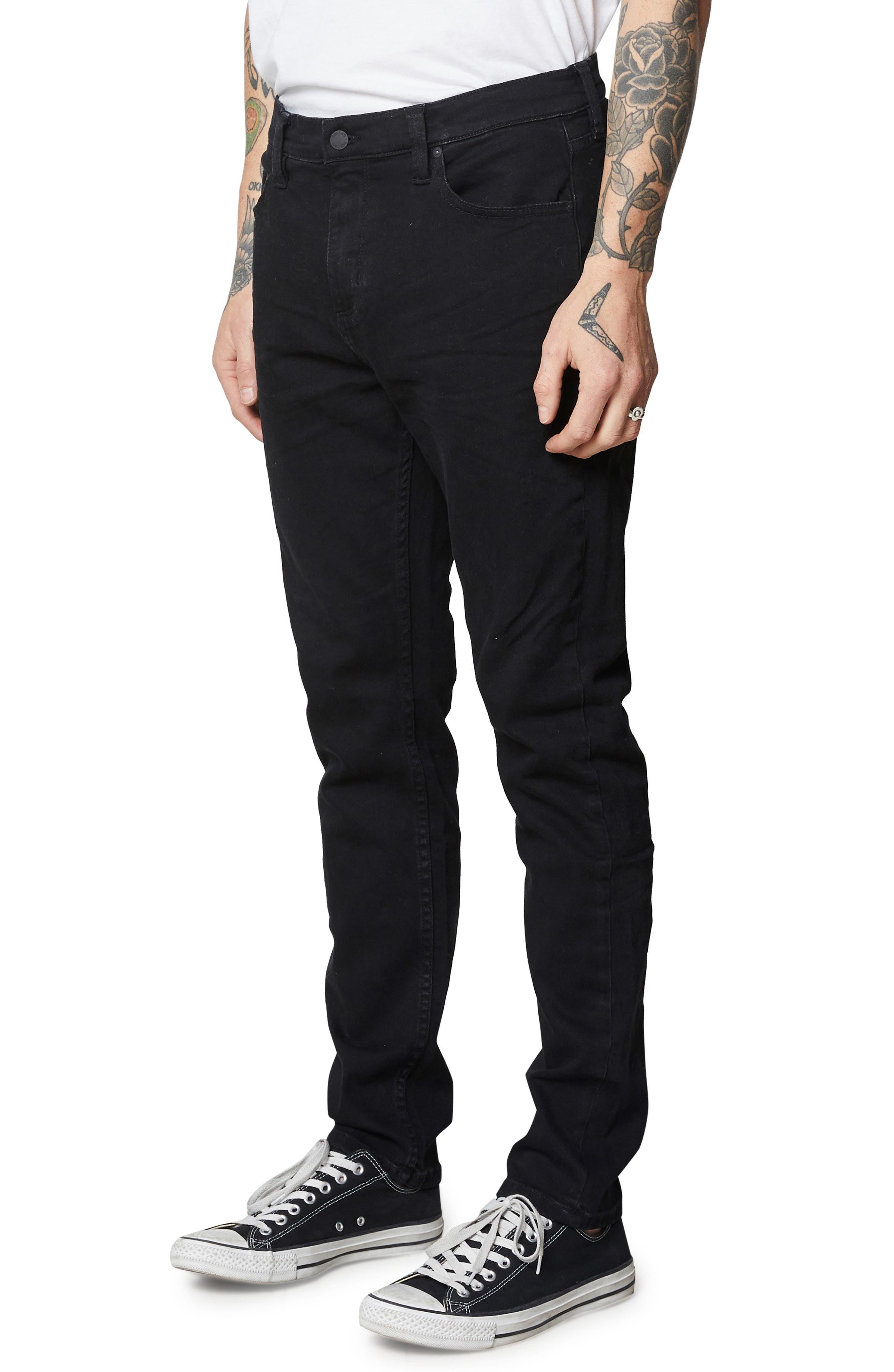 ,                             Tim Slim Fit Jeans,                             Alternate thumbnail 4, color,                             BLACK RAVEN