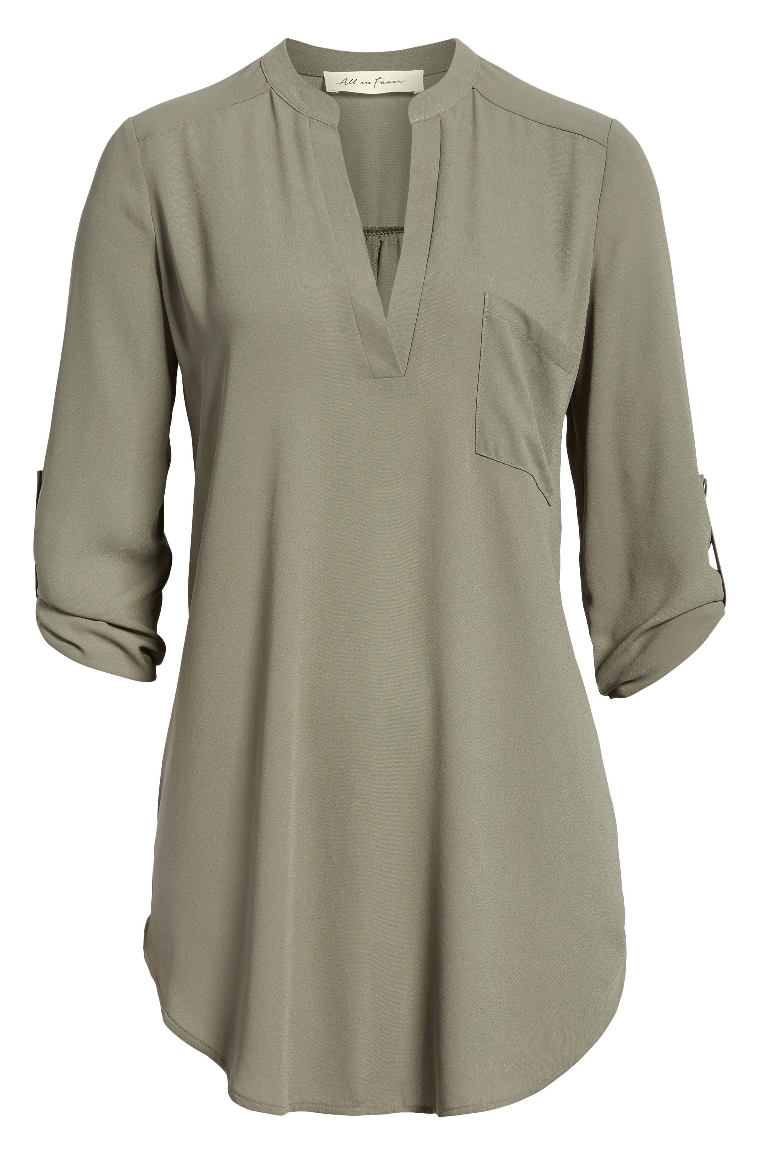 ,                             Perfect Roll Tab Sleeve Tunic,                             Alternate thumbnail 56, color,                             301