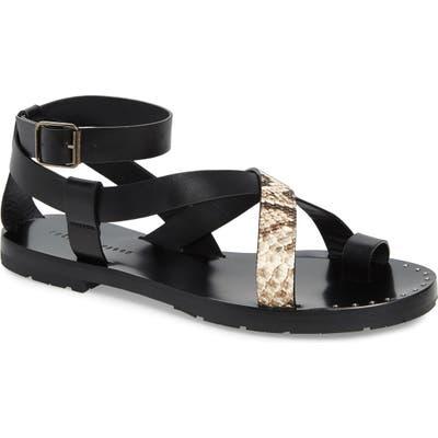 Freda Salvador Nova Ankle Strap Sandal, Black